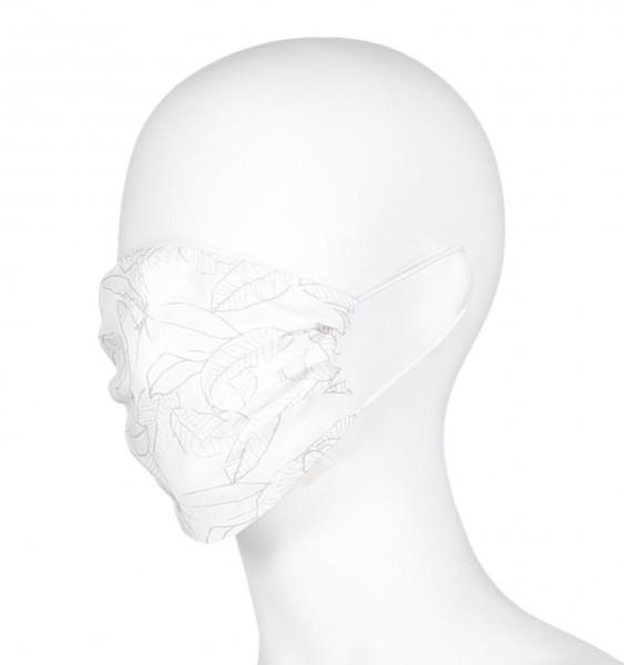 """MAC-Masken """"Winter White Figured"""" Zweierpack mit Aufbewahrungssäckchen"""
