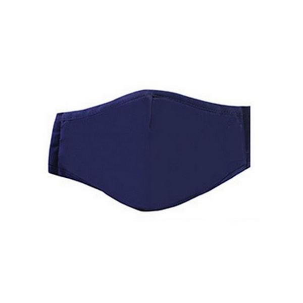 """Mund- und Nasen-Maske """"Solid Navy Blau"""""""