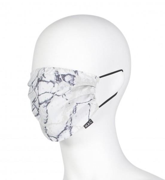 """MAC-Masken """"White Figured"""" Zweierpack mit Aufbewahrungssäckchen"""