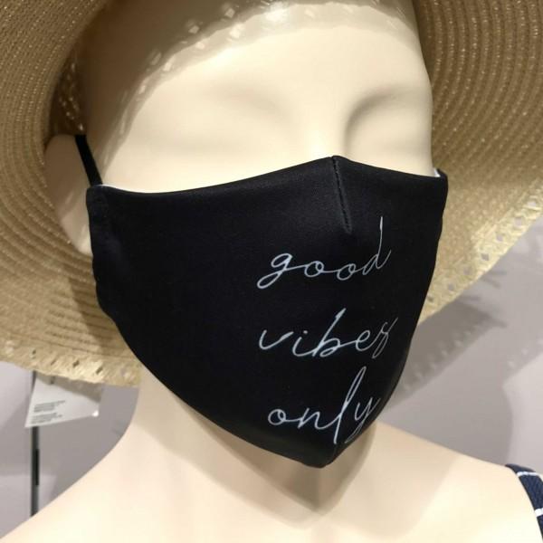 """Mund- und Nasen-Maske """"Good Vibes Only"""""""
