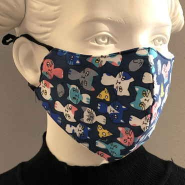 "Fashion Mask For Kids ""Cats Mice and Cheese"""