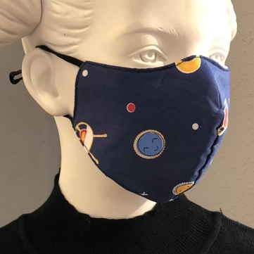 "Fashion Mask For Kids ""Ufo and Planets"""