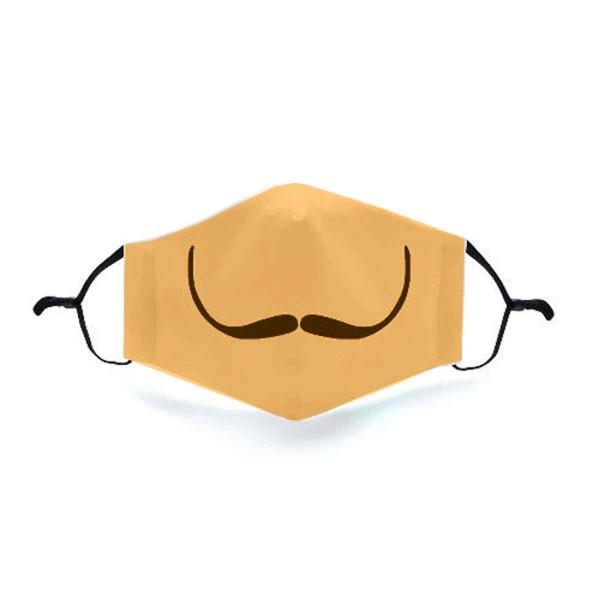 """Mund- und Nasen-Maske """"Mustache Gold"""""""