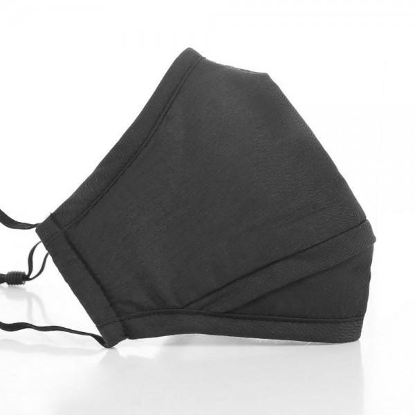 Mund- und Nasen-Maske Perfect FIT Black für perfekten Sitz