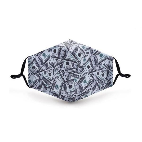 """Mund- und Nasen-Maske """"I Am Rich"""""""
