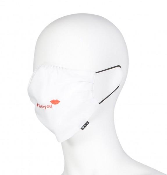 """MAC-Masken """"Kiss You White"""" Zweierpack mit Aufbewahrungssäckchen"""