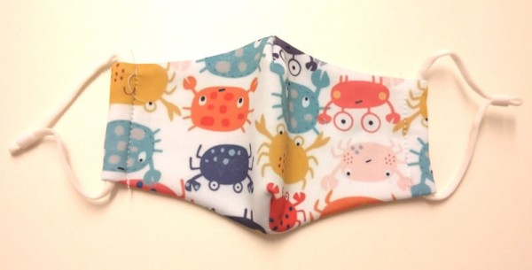 """Fashion Mask For Kids """"Happy Crabs"""""""