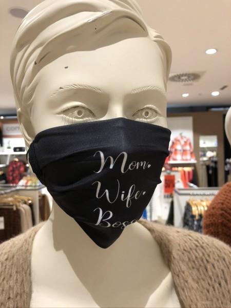 """Mund- und Nasen-Maske """"Mom Wife Boss"""""""