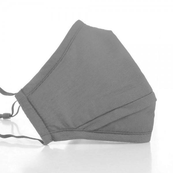 Mund- und Nasen-Maske Perfect FIT Grau für perfekten Sitz