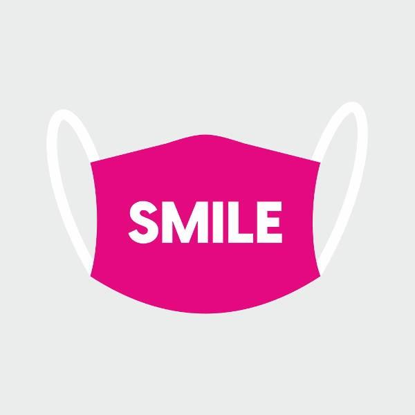 """Mund- und Nasen-Maske """"smile"""""""