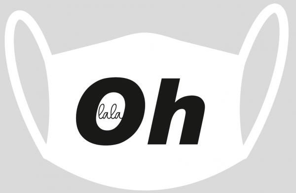 """Mund- und Nasen-Maske """"Oh La La"""""""